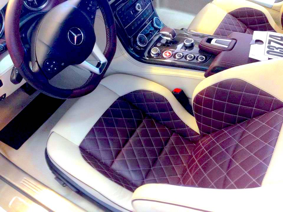 Interior image of Mercedes that received interior detailing by 5 Point Auto Spa in Carlsbad, CA.
